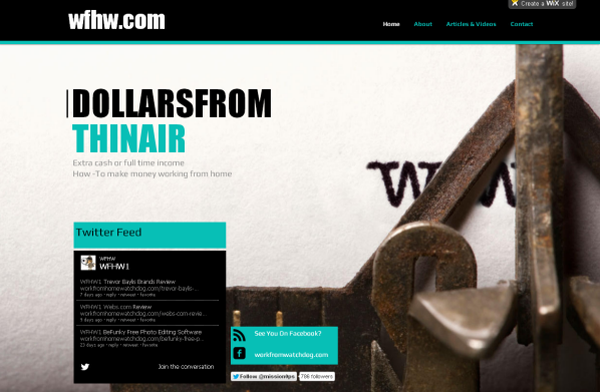 How to create a wix.com free website